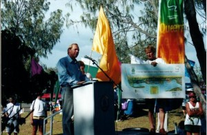 Federation Walk Official Opening by Minister Rod Welford 2001-01-21
